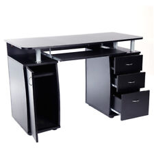 Home Office Computer PC Desk Workstation Study Laptop Writing Table 3 Drawers