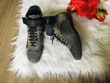 Prada Women Hightop Sneakers Shoes Sz USA 6 EU 36 Khaki / Dark Grey  RARE!!
