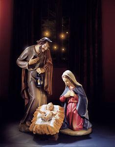 """24"""" Church Size Nativity Holy Family Val Gardena Style"""