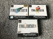 Playstation Game Bundle Final Fantasy 7,8,9 VII Viii With Instruction Manual