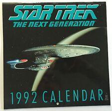 STAR TREK THE NEXT GENERATION 1992 CALENDAR - Patrick Stewart, Brent Spiner