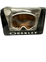 Oakley A Frame 2.0 Polished White Persimmon Ski Snowboard Snow Goggles