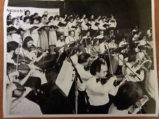 """Vtg Glossy Press Photo Handel & Haydn Society Orchestra """"Choral Symphony"""" #2"""