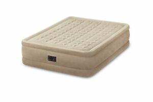 Plush Fiber-Tech Airbed Air Mattress Bed with Built-In PumpIntex Queen Ultra