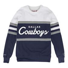 cb3e0a22ff0 Dallas Cowboys Mitchell & Ness Head Coach Crew Neck Sweatshirt L