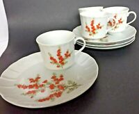 Vintage Richmond Toscany Collection Set of Four Lunch Snack Plates and Cups