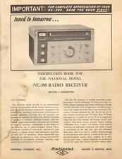 National Radio Receiver Model NC-300 Original Instruction Book