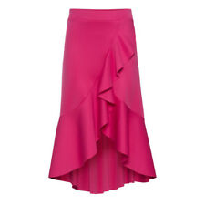 UK Women Asymmetric Ruffle Skirt Summer Gypsy Lady Beach Mini Loose Casual Dress
