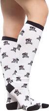 78548 Black Skull & Crossbones Socks Sourpuss Roller Derby Pinup Retro Fifties