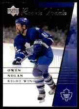 2002-03 Upper Deck Rookie Update Owen Nolan #93