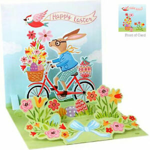 3D Pop Up Greeting Card from Up With Paper - BUNNY BIKE RIDE - UP-WP-E-1335