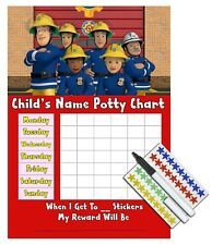 Kids Children Boys Potty Training Reward Chart Stickers - FIREMAN SAM