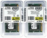 A-Tech 2GB 2x 1GB PC2700 Laptop SODIMM DDR 333 MHz 200-pin non-ECC Memory RAM 2G