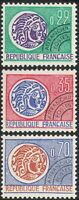 France 1964 Coins/Money/Commerce/Pre-cancel/History 3v (n43385)
