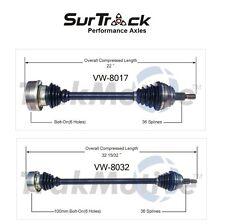 For VW Beetle Golf Jetta Pair Set of 2 Front CV Axle Shaft Assemblies SurTrack