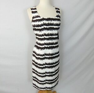 NWT $495 CARLISLE SLEEVELESS BROWN WHITE SUMMER SHEATH DRESS size 6