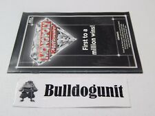 2012 Monopoly Millionaire Board Game Instructions Rules Manual Only