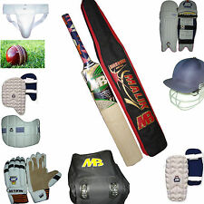 11 Pcs MB MALIK Complete Professional Senior Cricket Kit Set English Willow Bat