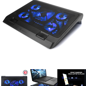 ENHANCE Gaming Laptop Cooling Pad Stand with LED Cooler Fans , Adjustable Hei...