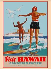 Visit Hawaii Canadian Pacific United States America Travel Advertisement Poster