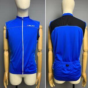 NALINI Cycling Vest Size XXL Men's Sleeveless Blue Full Zip Lightweight Top