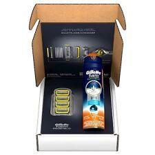 Gillette Fusion Pro-Shield Razor Blade Refills Plus Pro-Glide Sensitive Cream