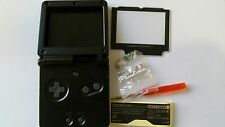 CARCASA COMPLETA+PANTALLA COMPATIBLE GAME BOY ADVANCE SP BLACK NEW/NUEVO