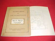 1934 GM COACH CHASSIS BUS MODEL 714 715 17 21 OWNERS MANUAL INSTRUCTION BOOK 34