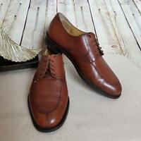 Cole Haan Men's Dress Oxfords Shoes Size 9.5D Leather Round Toe Cognac