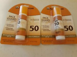 Lot of 2 Australian Gold Face Guard Sunscreen Stick SPF 50+ 0.50 oz. New in pack