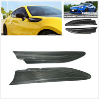 2 Pcs Carbon Fiber Car Body Side Fender Air Fin Vents For Toyota GT86 Scion FR-S