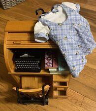 American Girl Kit Kittredge School Bundle — Desk, Chair, Typewriter, Outfit, etc