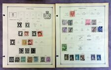 LOT OF 119 PORTUGAL STAMPS - 1864-1949 - MOUNTED ON OLD SCOTT PAGES WITH BONUS