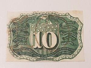 ➡➡1863 Fr.1244 sp SPECIMEN PROOF 10 TEN Cents SECOND ISSUE REVERSE NM