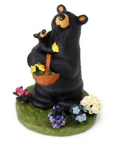 Bearfoots Flower Child Bear Figurine Big Sky Carvers