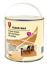 LTP Clear Wax 2.5Ltr Polish Sealer for Terracotta Slate Stone Marble & Wood