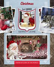 Sierra Leona 2016 estampillada sin montar o nunca montada Navidad 1v S/S Padre Navidad Santa Claus sellos
