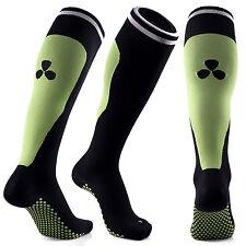 SAMSON Calcetines de compresión Negro Verde Fútbol Correr Deporte Gimnasio