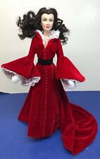"16� Franklin Mint Gone With The Wind Scarlett O'Hara ""Regal Red Robe� W/ Coa"
