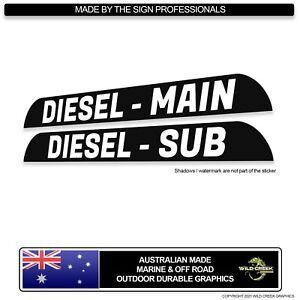 Toyota Landcruiser Troop Carrier External Fuel Cover Stickers Diesel fuel decal