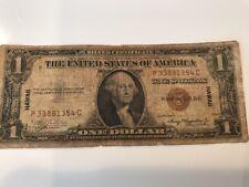 U.S. $1 SILVER CERTIFICATE BILL SERIES 1935-A HAWAII OVERPRINT #P33881354C