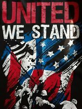 Faded Glory Mens United We Stand Graphic Tee Size Large 42-44 100% cotton. Usa !
