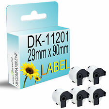 5 Roll for Dk11201 DK 11201 Brother Compatible Address Labels 29mm X 90mm