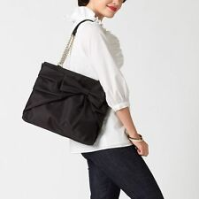 Kate Spade Black Nylon Esther Bow Shoulder Bag Purse Bow Beau Shopper Tote