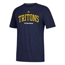 UC San Diego Tritons  NCAA Adidas Men's Navy Arched Team Logo Climalite T-Shirt