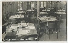 RPPC Barothy Lodge Dining room, WALHALLA MI Vintage Real Photo Michigan Postcard