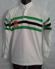"""Mens Raging Bull Rugby Long Sleeve Stripe Polo Shirt Top  Size 40"""" Chest #1625"""