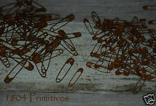 150 Primitive ASSORTED Rusty Safety Pins ~ Rusted