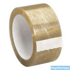 "2"" x 110 Yds 1.9 Mil Clear Natural Rubber Packaging Carton Sealing Tape 36 Rolls"