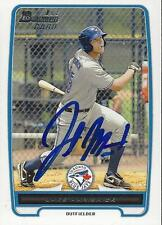 Jake Marisnick Toronto Blue Jays 2012 Bowman Signed Card